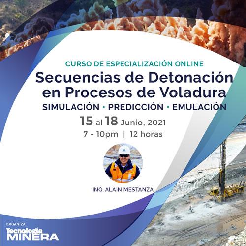 Curso Online Secuencias de Detonación en Procesos de Voladura. Simulación - Predicción - Emulación