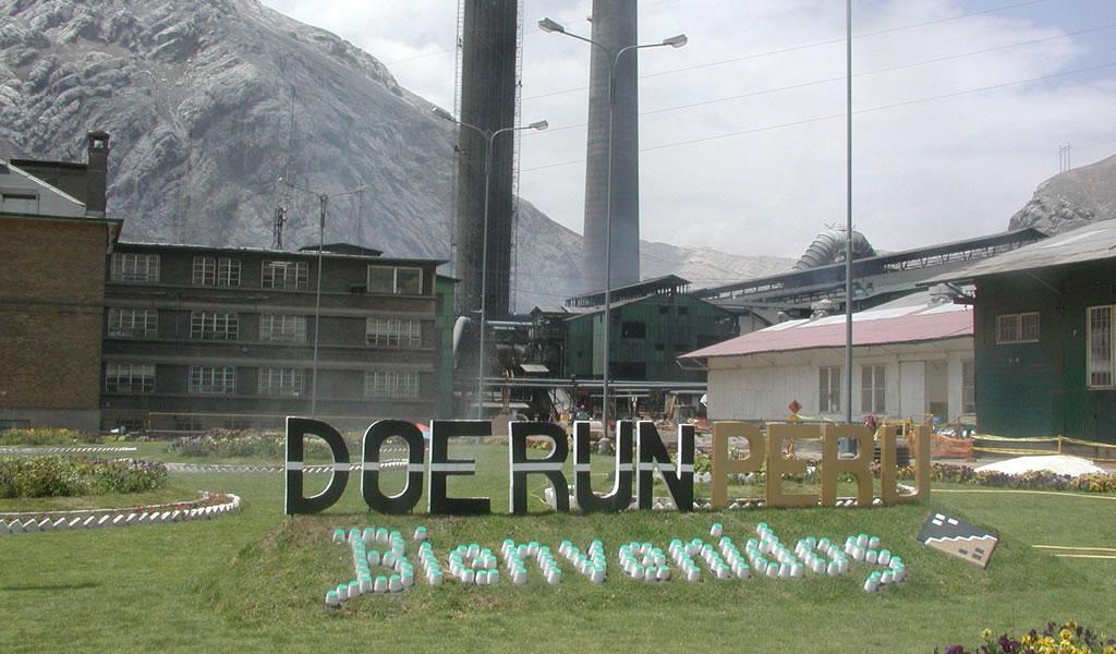 Doe Run Perú presentará plan de reinicio para complejo de La Oroya