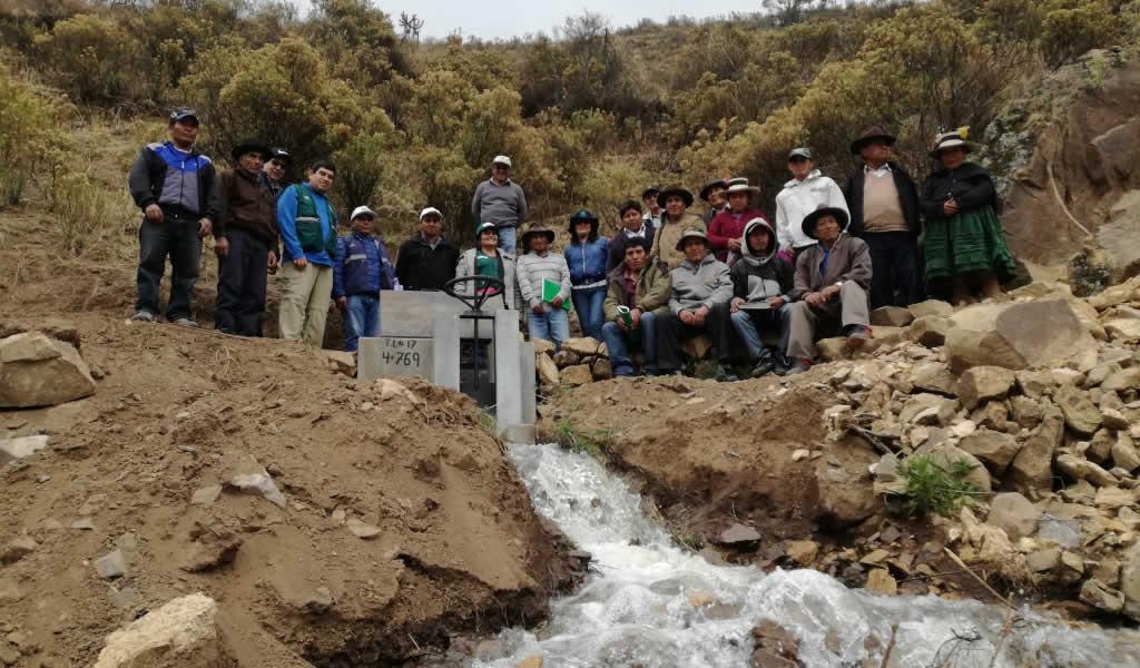 Inauguran primer proyecto de irrigación mediante Obras por Impuesto en Pampas Chico
