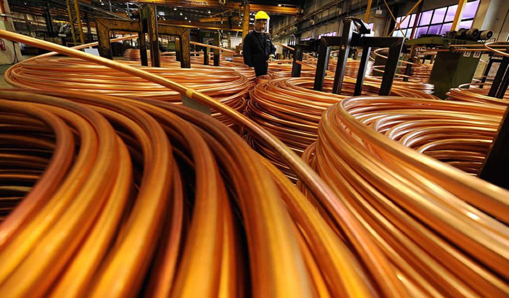 Consumo mundial de cobre refinado crece 11,6% entre 2000 y 2016