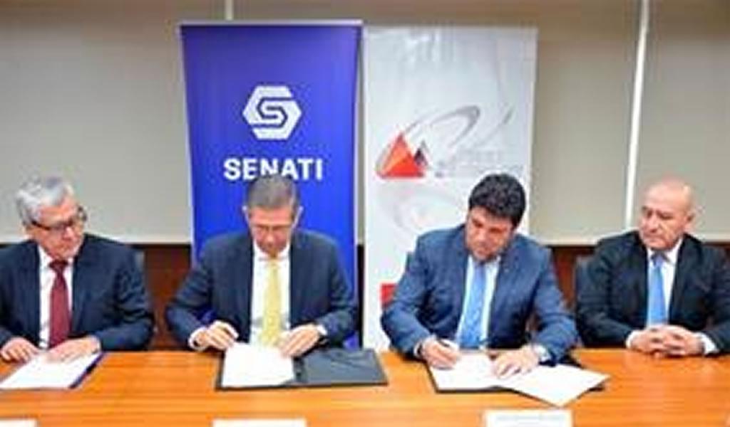 Firma de convenio Senati y Andes Technology