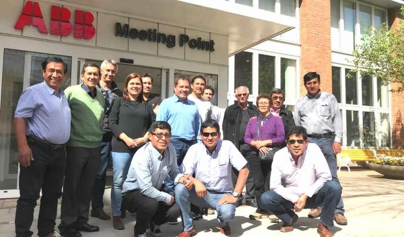 Delegación minera peruana visitó fábrica de ABB en Suecia