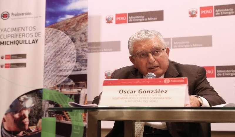 Minera Southern Copper prevé que proyecto Michiquillay en Perú inicie operaciones en 2022