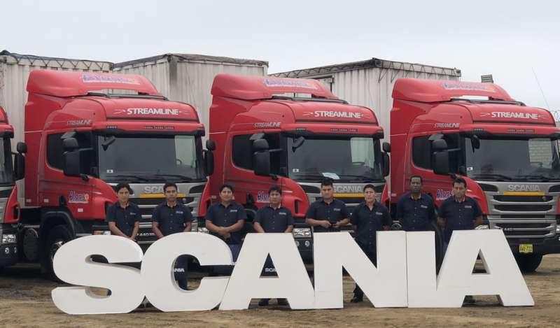 Scania del Perú entregó 8 camiones P440 Euro 5 a Hermanos Alonso