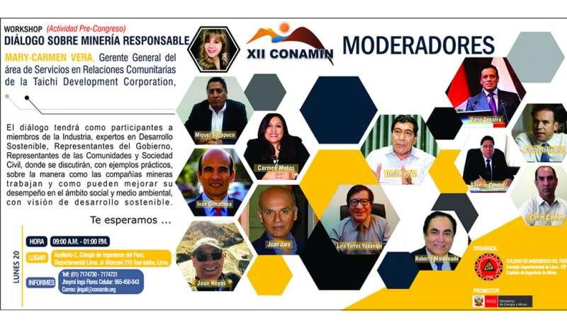 CONAMIN presenta el workshop Diálogo sobre Minería Responsable