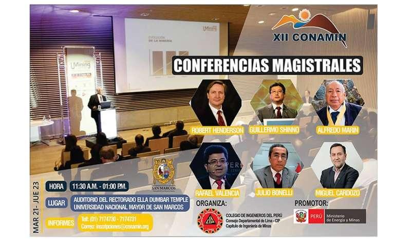 XII CONAMIN presentará seis conferencias magistrales