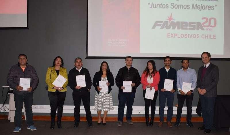 Universidad Tecnológica de Chile certifica a 42 colaboradores de FAMESA EXPLOSIVOS CHILE