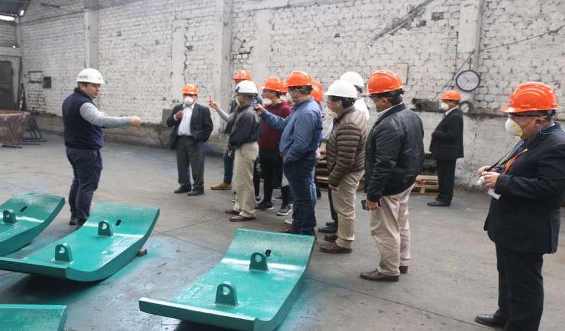 Representantes de compañías mineras visitaron planta de Fundición Ferrosa