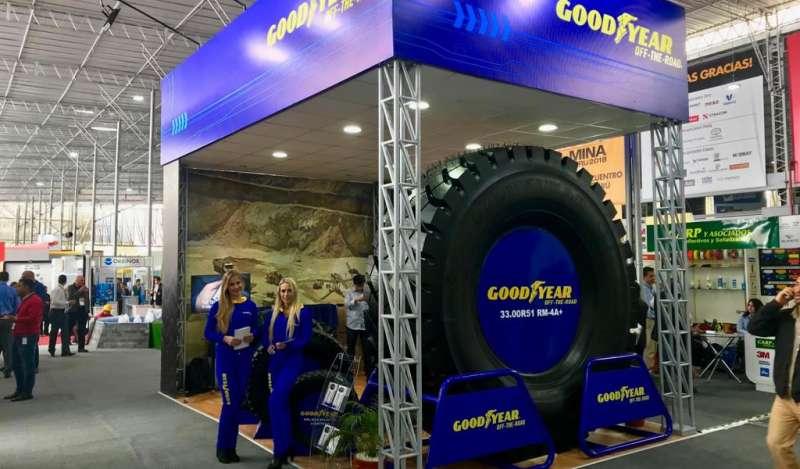 Goodyear presentó portafolio de llantas OTR para rentabilizar las operaciones mineras en EXPOMINA 2018