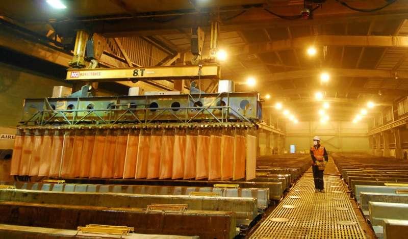 Producción nacional de cobre y estaño aumentó en noviembre de 2018