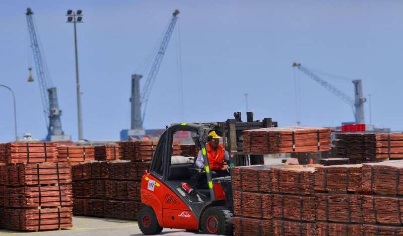 Las exportaciones de cobre sumaron US$ 14,925 mllns.