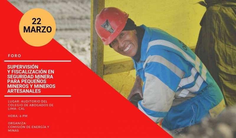 Comisión de Energía y Minas brindará conferencia magistral en materia de seguridad minera