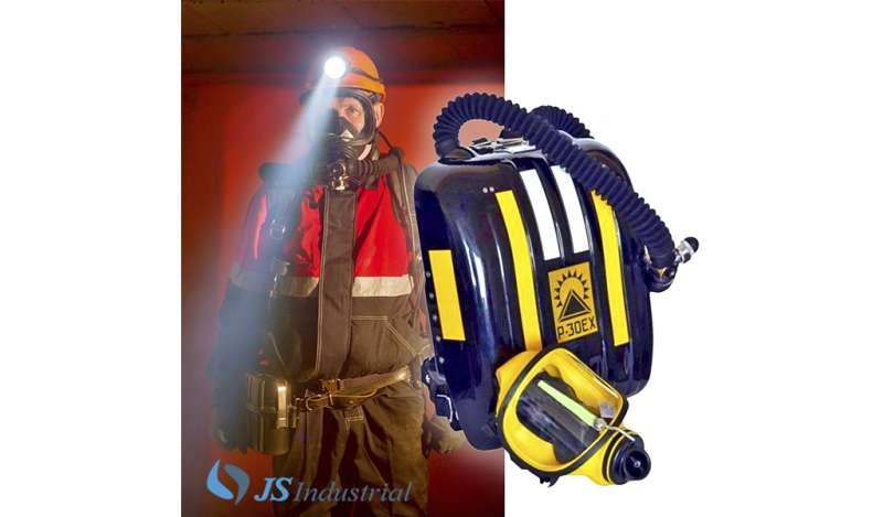 JS INDUSTRIAL - Equipo autocontenido de respiración autónoma de circuito cerrado para rescate subterráneo: P-30 EX