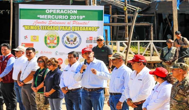 Operación Mercurio 2019 no cesará hasta erradicar minería ilegal
