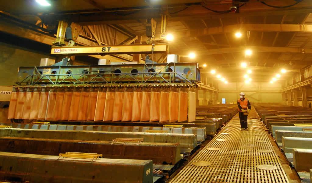 Producción de cobre alcanzó crecimiento de 4.0% en julio último