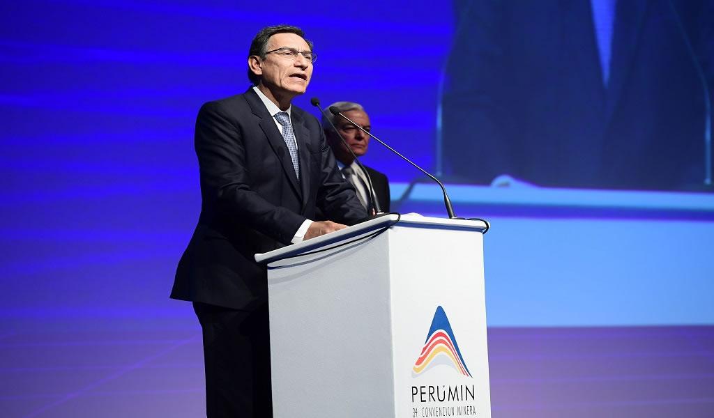 Presidente Martín Vizcarra llegó a PERUMIN 34 Convención Minera