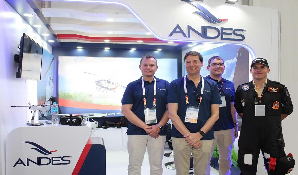 ANDES presenta el servicio de transporte aéreo para el sector minero