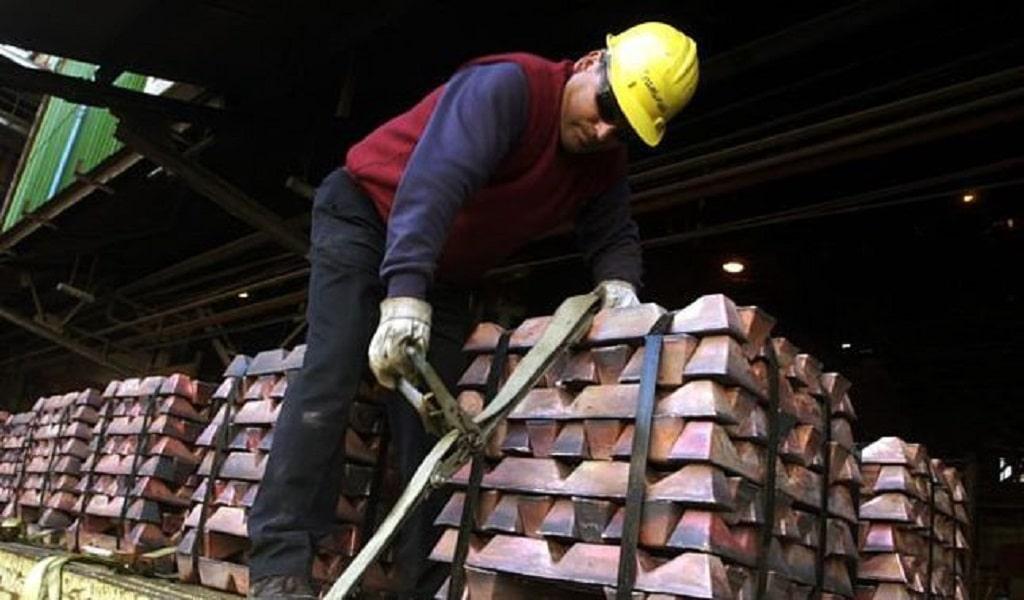 SNMPE: Exportaciones de cobre cayeron 11,6% entre enero a agosto