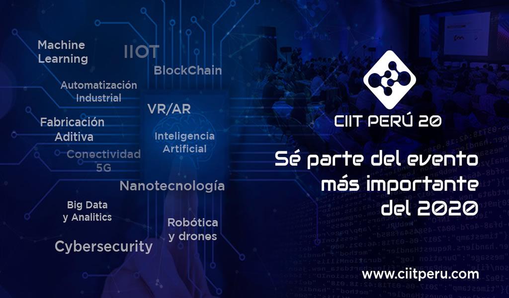 IIOT, inteligencia artificial, conectividad y big data marcarán la pauta del CIIT Perú 20