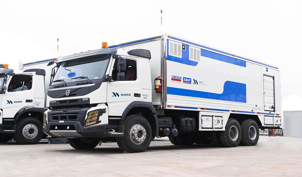 Soluciones mineras: implementación de camiones lubricadores Marco Peruana