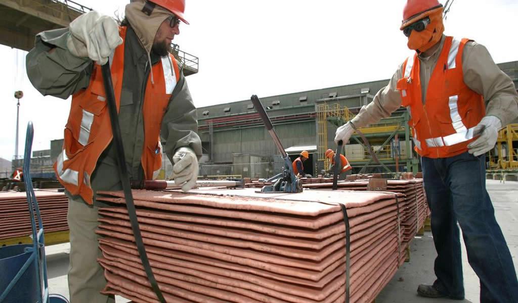 Perú se mantuvo en el segundo lugar como productor mundial de cobre en 2019