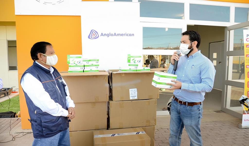 Anglo American dona 10 000 pruebas rápidas a Moquegua