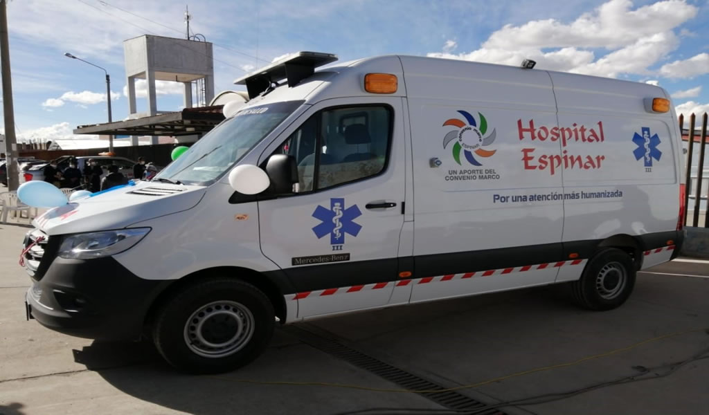 Antapaccay entrega ambulancia equipada como UCI a Hospital de Yauri