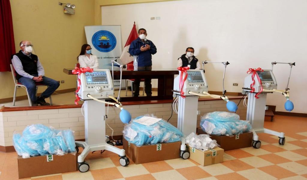 Yanacocha dona ventiladores mecánicos al Hospital Regional de Cajamarca