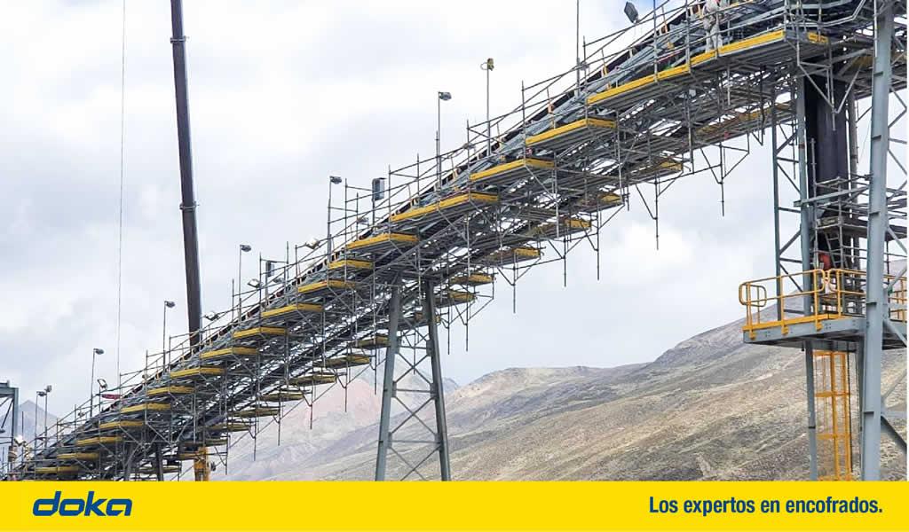 DokaScaff: el andamio multidireccional para trabajos de montaje electromecánico