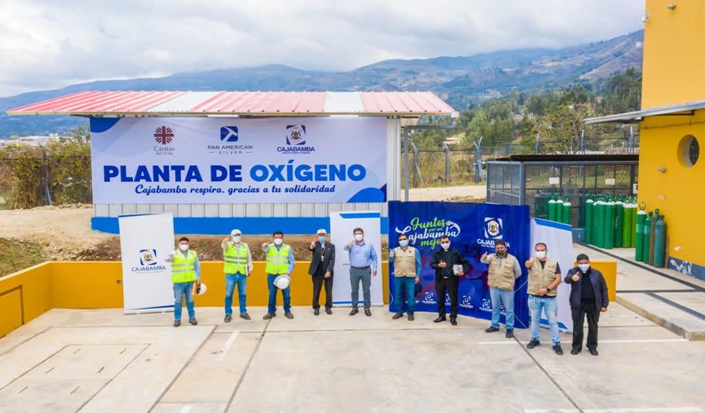 Pan American Silver: planta de oxígeno entregada al Hospital de Cajabamba comienza a operar
