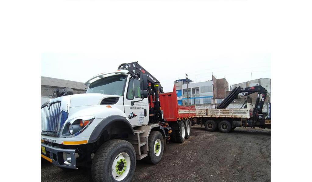 ETHANSSAC - Alquiler de camiones grúa, grúas telescópicas y montacargas