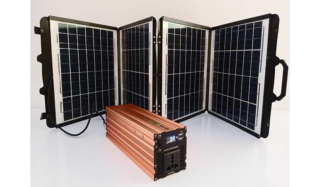 Panel Solar Plegable y  Fuente de Energía Portátil (PPS)