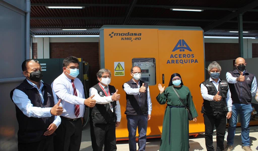 Aceros Arequipa dona dos plantas de oxígeno medicinal para ayudar a personas con COVID-19 en Pisco