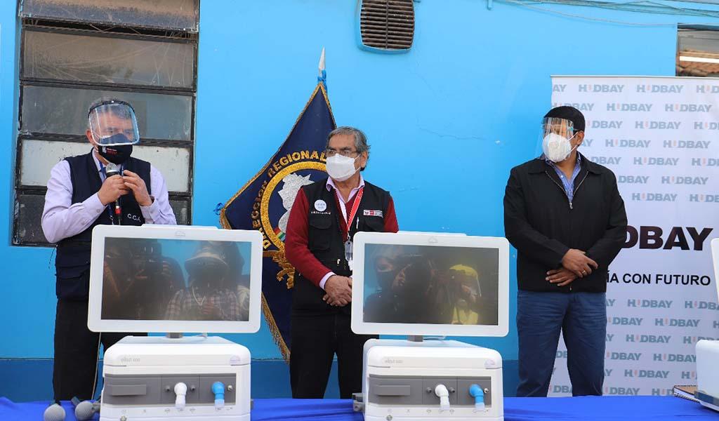 Con presencia Del Ministro De Salud la Empresa Minera Hudbay Entregó tres ventiladores de última generación A GERESA Cusco